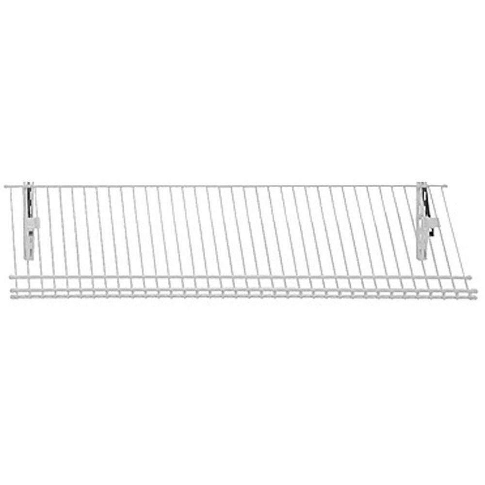 ClosetMaid ShelfTrack 11.25 in. D 36 in. W x 4 in. H 5-Pair Ventilated Wire Shoe Shelf Steel Closet System