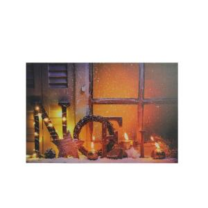 Northlight 23 5 in  x 15 75 in  LED Lighted Noel and
