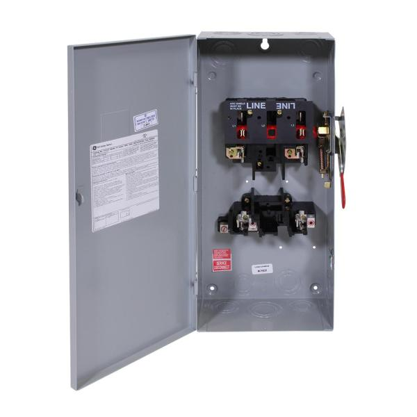 3-Wire GE TG4323 Safety Switch STEEL 100A 240V NEMA-1 3P Indoor small