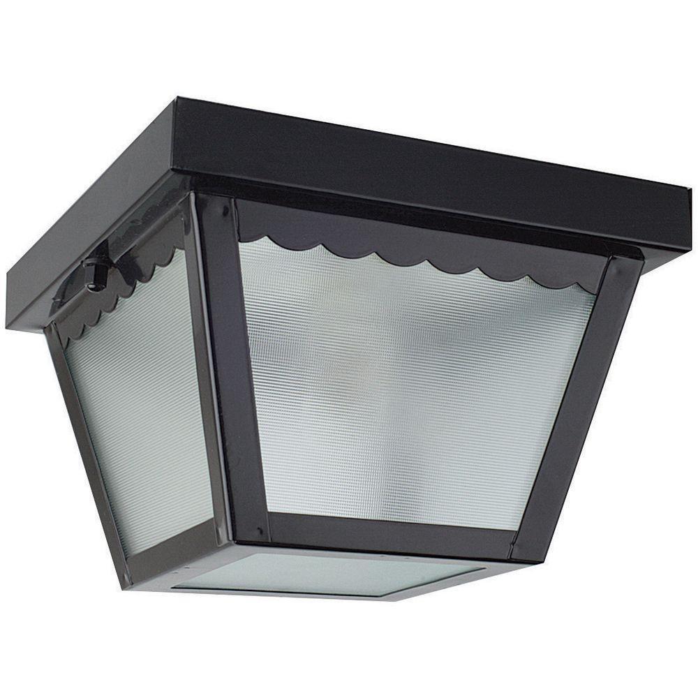 1-Light Black Outdoor Builder Light
