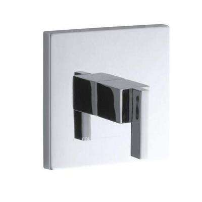 Loure 3.75 in. x 6-5/16 in. Thermostatic Valve Trim in Chrome (Valve Not Included)