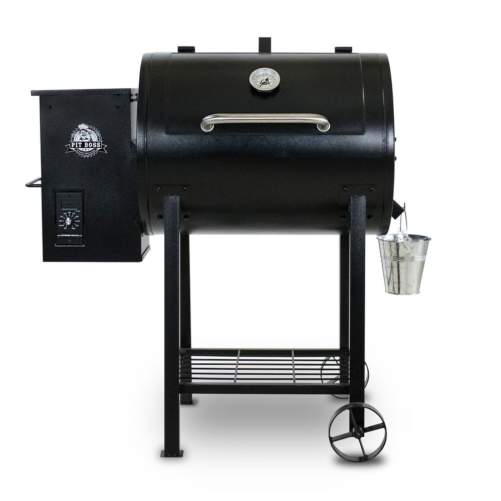 Pit boss 700fb pellet grill black 71700fb the home depot - Pellet grills and smokers ...