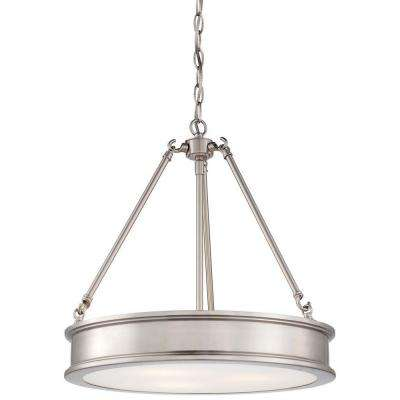 Harbour Point 3-Light Brushed Nickel Pendant