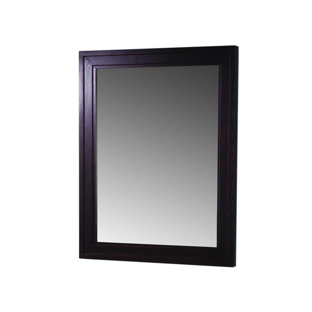Martha Stewart Living Skylands 23 in. x 28 in. Wall Mirror in Bridle Brown-DISCONTINUED
