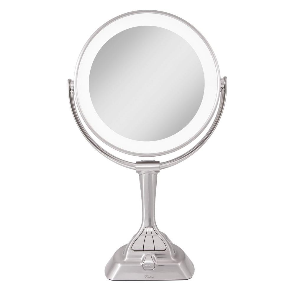 Husky Round Lighted Inspection Mirror 80556h The Home Depot