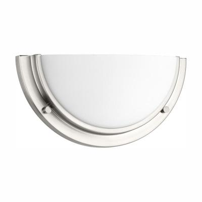 Apogee Collection 20-Watt Brushed Nickel Integrated LED Sconce