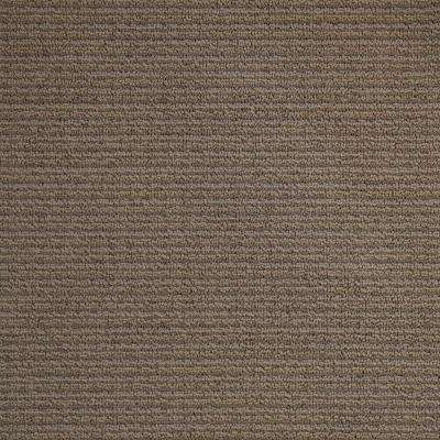 Wildly Popular II - Color Oak Grove Textured Loop 12 ft. Carpet