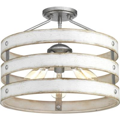 "Gulliver Collection Three-Light 17"" Semi-Flush Convertible"