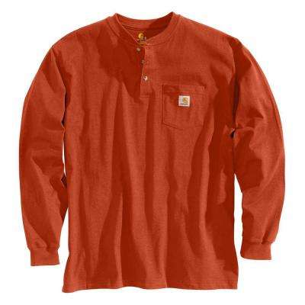 Men's Regular Medium Chili Cotton Long-Sleeve T-Shirt