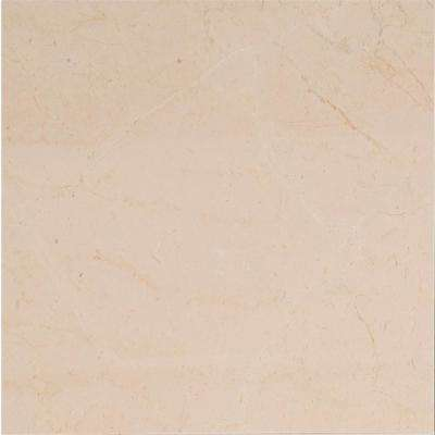 Crema Marfil 12 in. x 12 in. Polished Marble Floor and Wall Tile (10 sq. ft. / case)