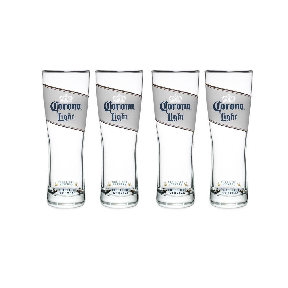 Corona Light 16 oz. Pilsner Glass (Set of 4)