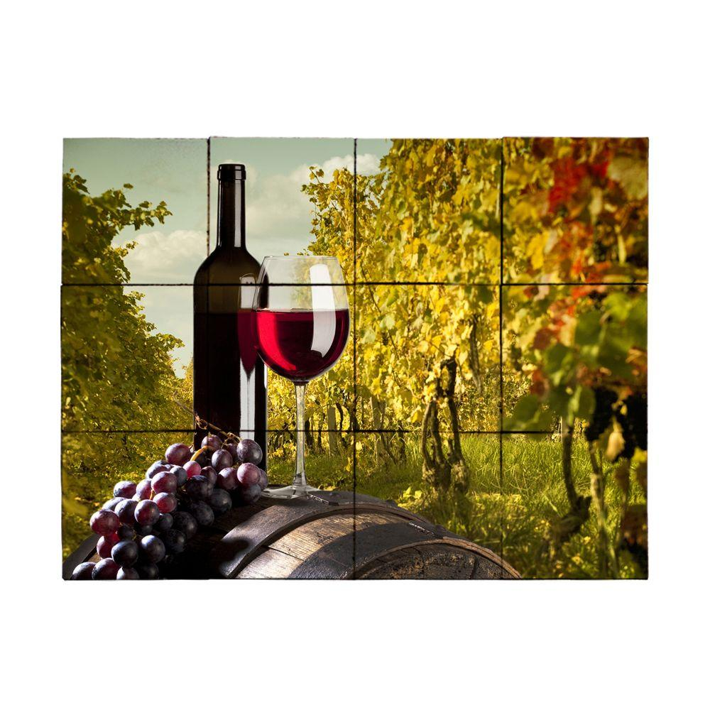 Tile My Style Wine2 24 in. x 18 in. Tumbled Marble Tiles (3 sq. ft. /case)