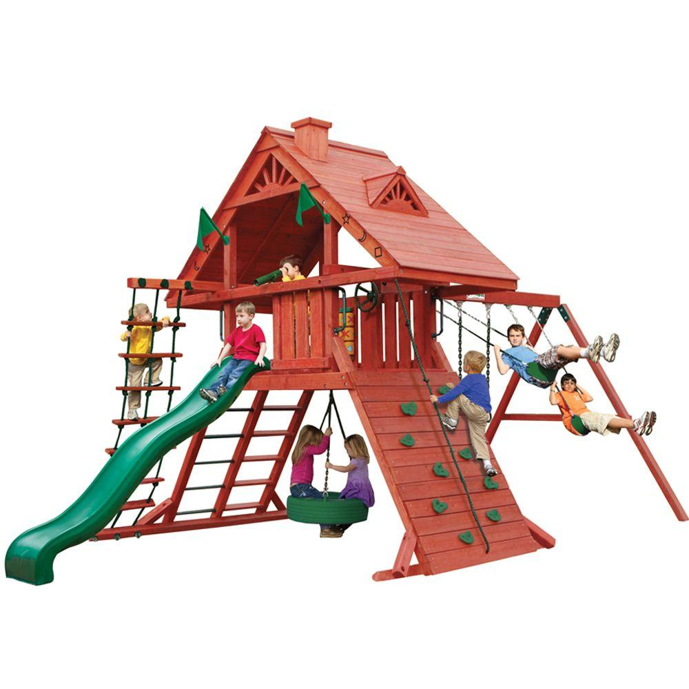 Wooden swing set deals