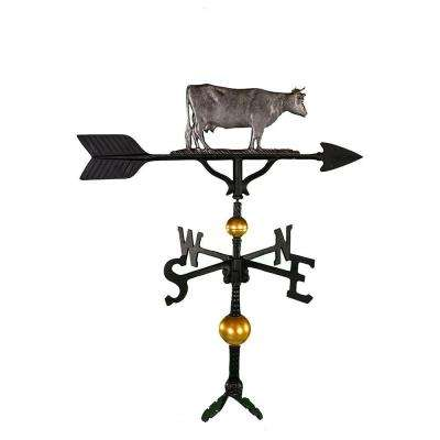 32 in. Deluxe Swedish Iron Cow Weathervane