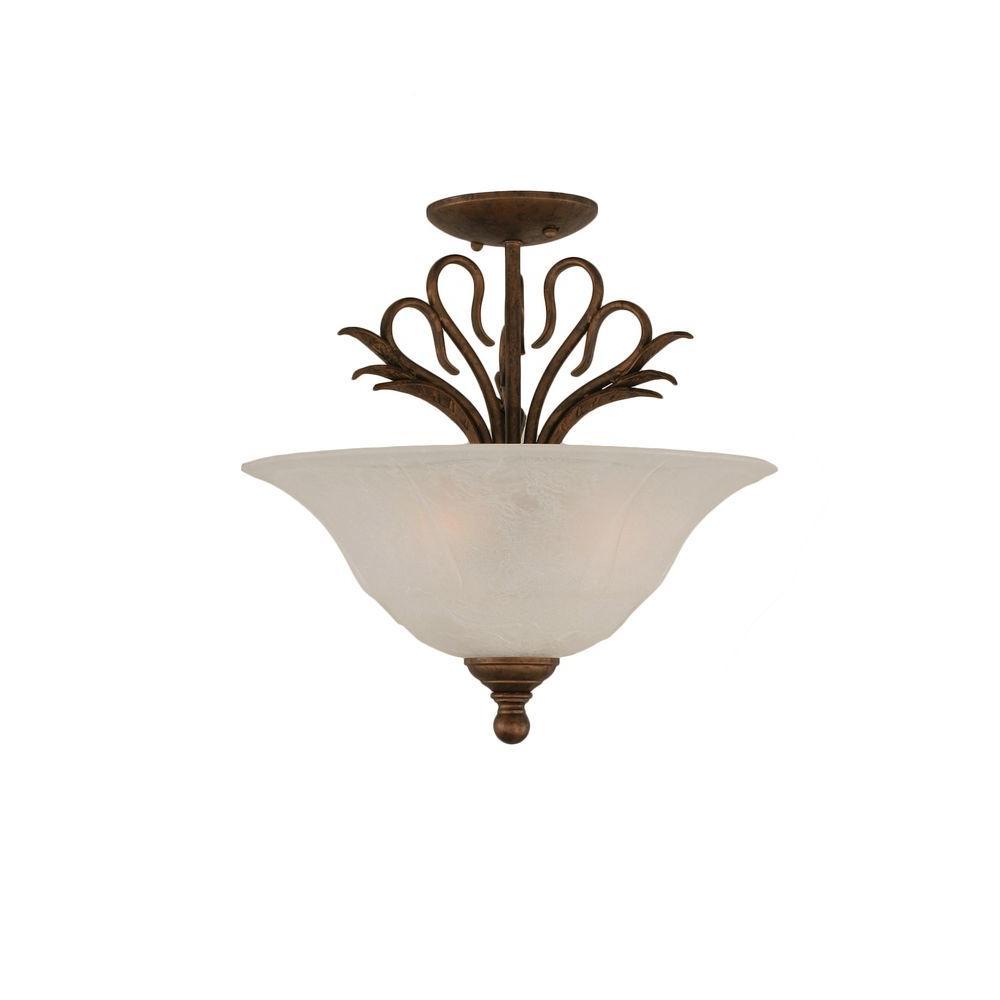 Filament Design Concord 3 Light Bronze And White Marble