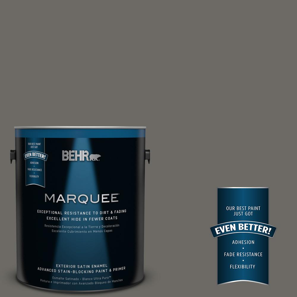 BEHR MARQUEE 1-gal. #PPU18-18 Mined Coal Satin Enamel Exterior Paint