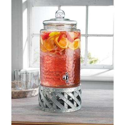 Fiddle and Fern 3 Gal. Dispenser with Galvanized Base