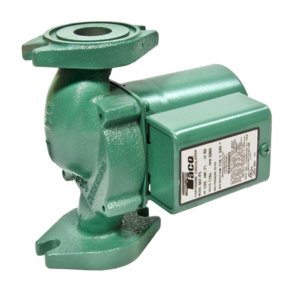 Taco Comfort Solutions 1 25 Hp Cast Iron Circulator Pump 007f5 The Thermostat Wiring Heat