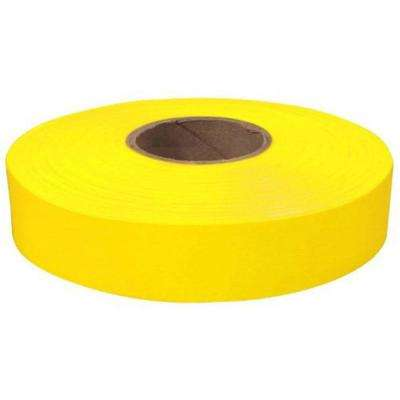 1 in. x 600 ft. Flagging Tape in Yellow
