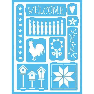 Country Self-Adhesive Stencil