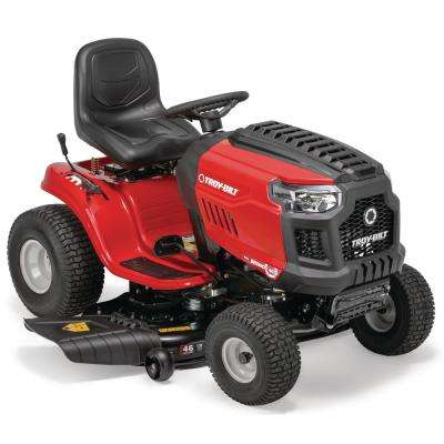 Bronco 46 in. 679 cc V-Twin OHV Engine Automatic Drive Gas Lawn Tractor Riding Mower with Mow in Reverse