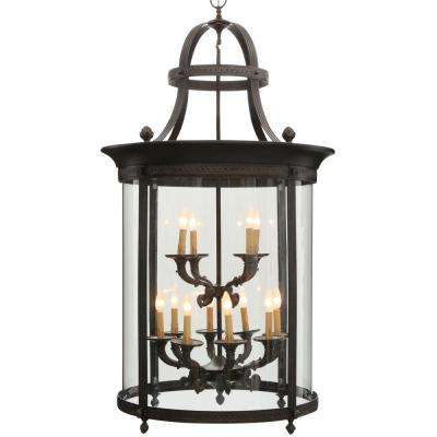 Outdoor Hanging Lighting Outdoor hanging lights outdoor ceiling lighting the home depot chatham collection 12 light french bronze outdoor hanging mount country influence foyer lantern workwithnaturefo