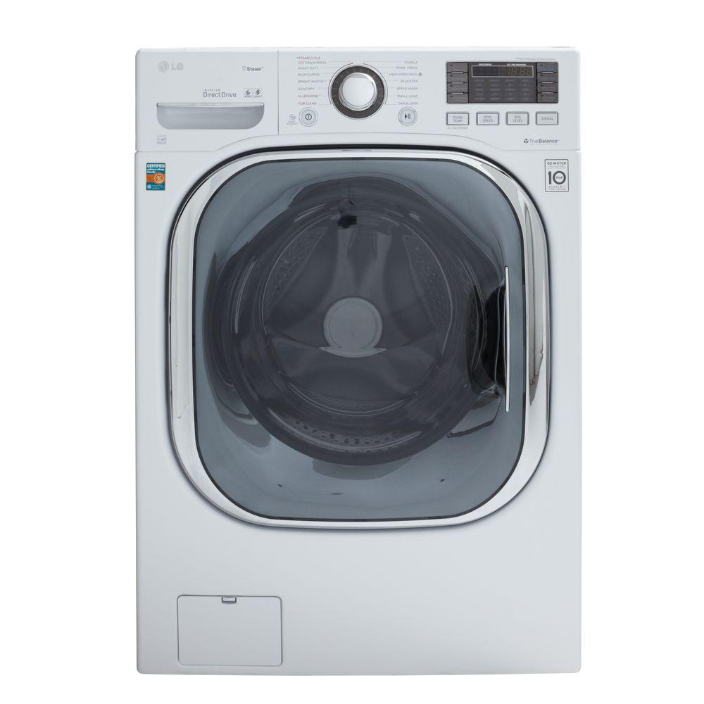 LG Electronics 4.3 DOE cu. ft. High-Efficiency Front Load Washer with TurboWash in White, ENERGY STAR