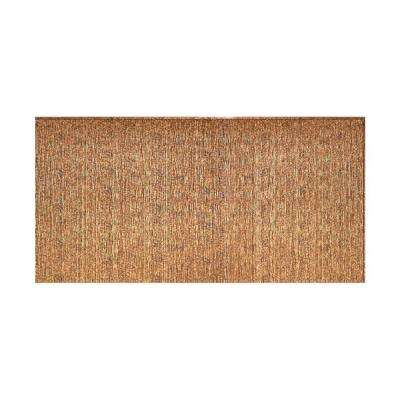 Ripple Vertical 96 in. x 48 in. Decorative Wall Panel in Cracked Copper