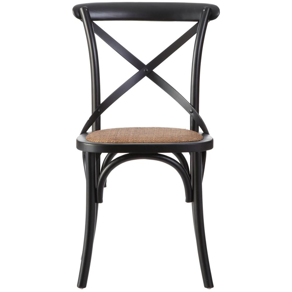 black wood dining chairs Linon Home Decor Hyde Black Wood Dining Chair (Set of 2  black wood dining chairs