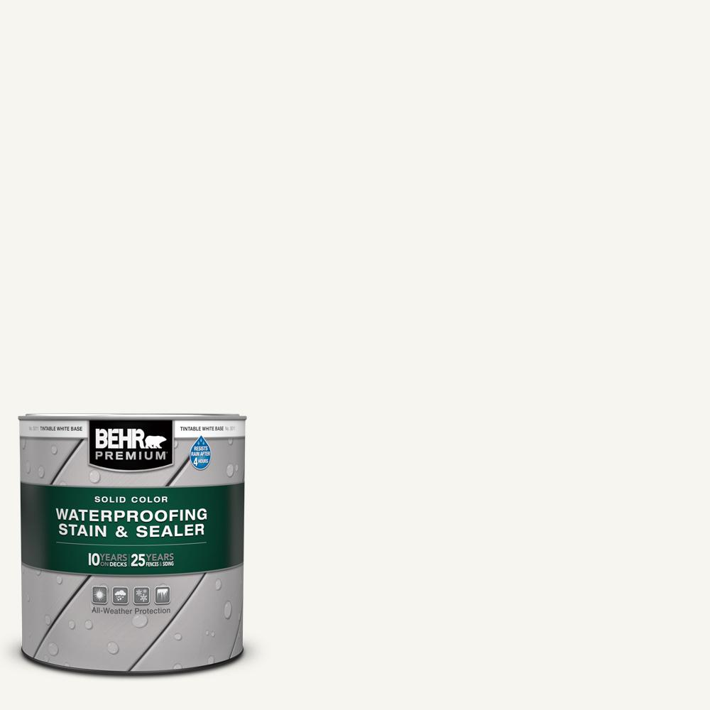 BEHR PREMIUM 1 qt. #SC-210 Ultra Pure White Solid Color Waterproofing Exterior Wood Stain and Sealer