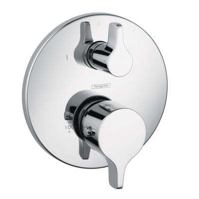 Metris S/E 2-Handle Thermostatic Valve Trim Kit with Volume Control in Chrome (Valve Not Included)