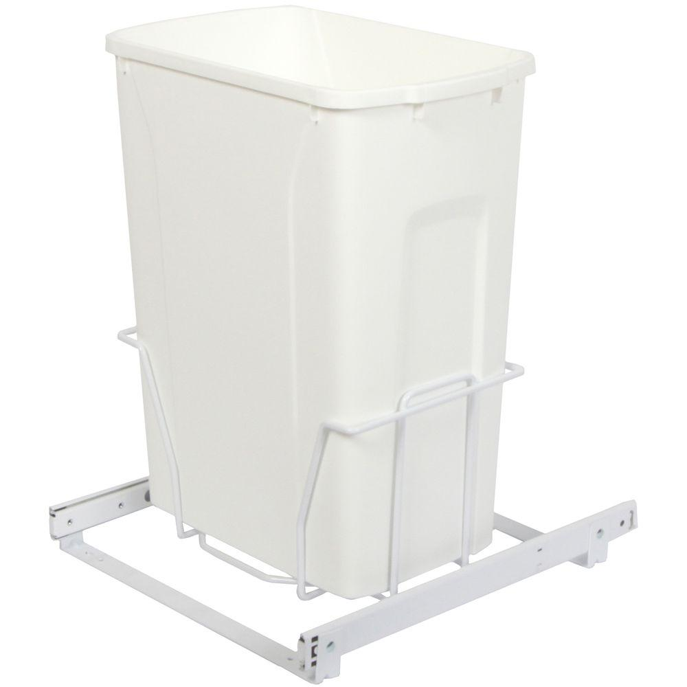 Knape & Vogt 18.75 in. x 14.38 in. x 16 in. In Cabinet Pull Out Bottom Mount Trash Can