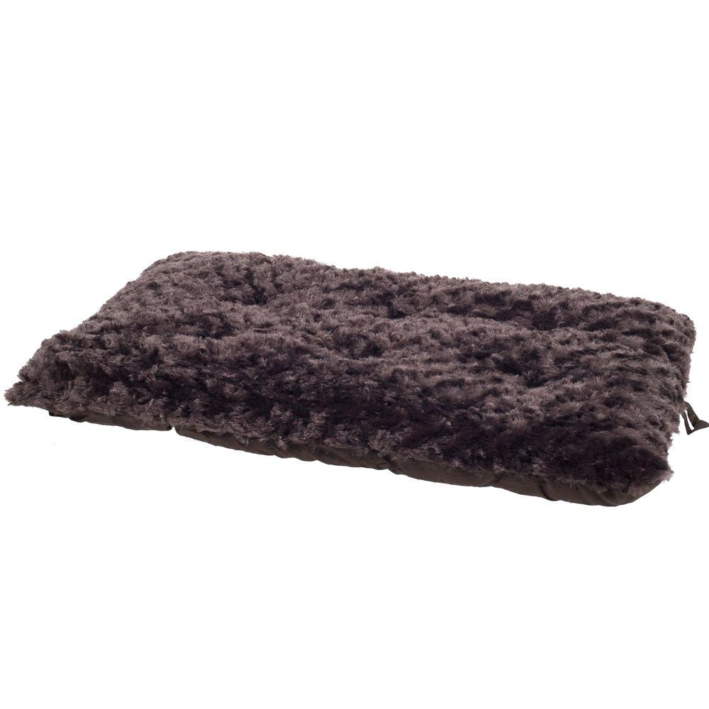 Lavish Cushion Medium Chocolate Pillow Furry Pet Bed