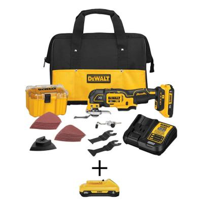20-Volt MAX Lithium-Ion Cordless Brushless Oscillating Tool Kit with 20-Volt MAX Lithium-Ion 4.0 Ah Compact Battery Pack