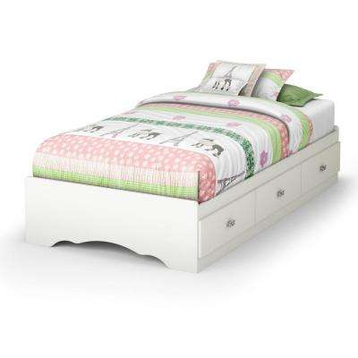 Tiara 3-Drawer Pure White Twin-Size Storage Bed