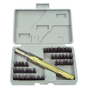 Deluxe Number and Letter Metal Stamp (38-Piece)