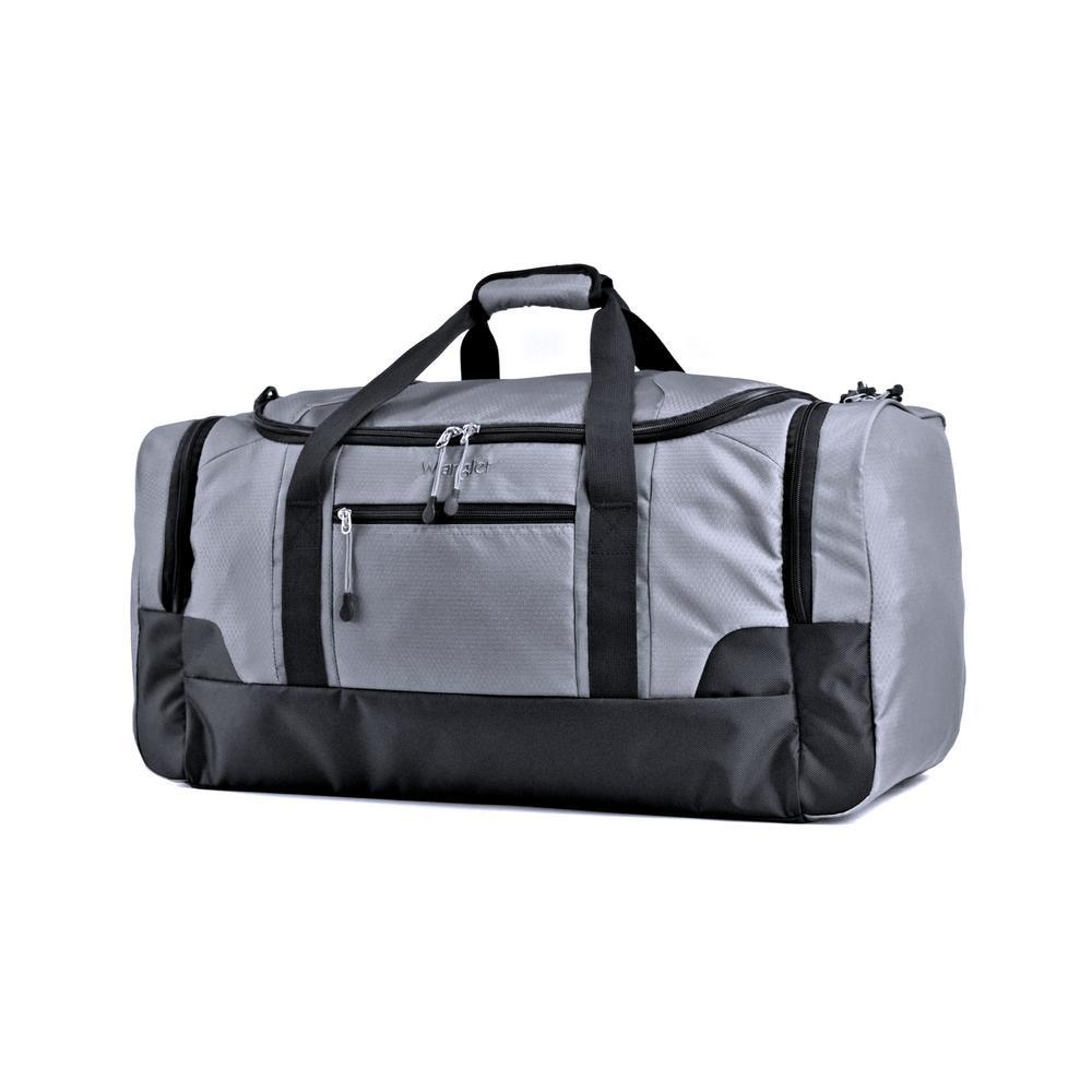 20 in. Gray Multi-Pocket Sport Duffel Bag