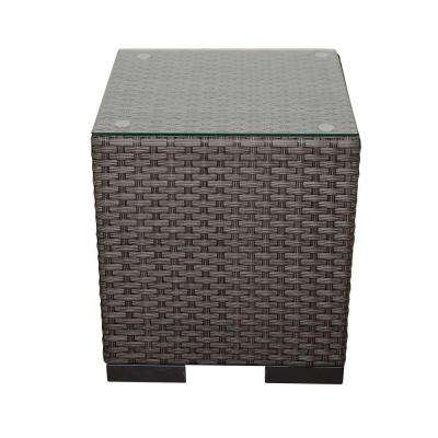 Bellagio Grey Wicker Patio Side Table