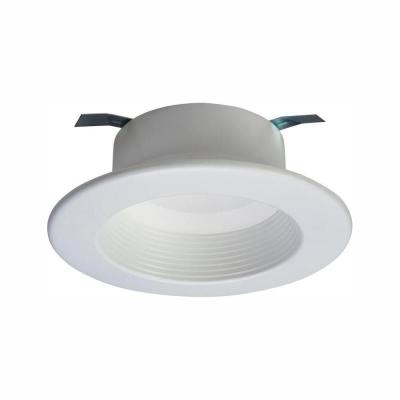 RL 4 in. Selectable CCT (2700K-5000K) Integrated LED Recessed Retrofit Trim, Title 20 Compliant