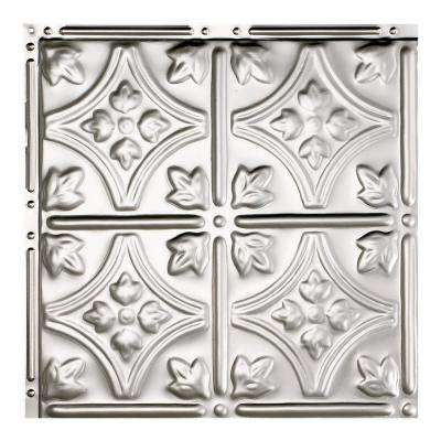 Hamilton Clear 12 in. x 12 in. Nail-Up Ceiling Tile Sample