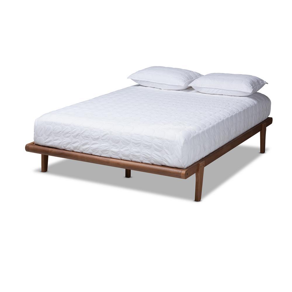 Kaia Walnut King Platform Bed Frame