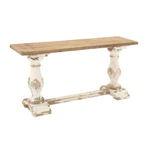 Superb Internet #301111325. Null Distressed White Console Table