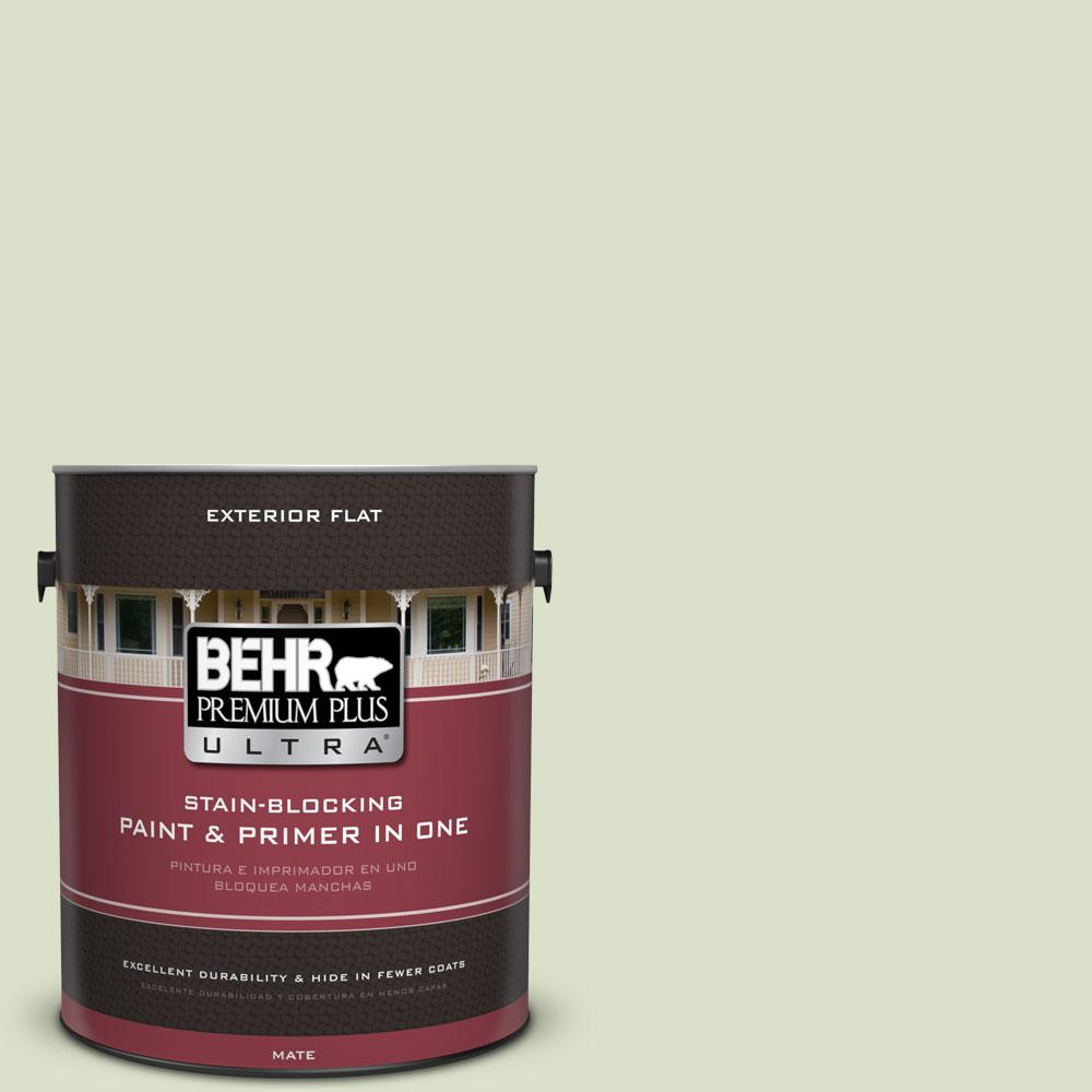 BEHR Premium Plus Ultra 1-gal. #420E-2 Palm Breeze Flat Exterior Paint