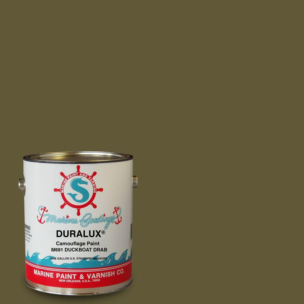 Duralux Marine Paint 1 Gal Camouflage Duck Boat Drab Flat Enamel