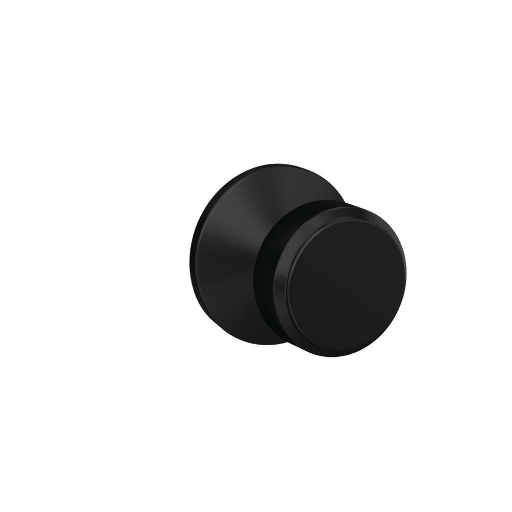 Schlage Custom Bowery Matte Black Kinsler Trim Dummy  Door Knob (2-pack)