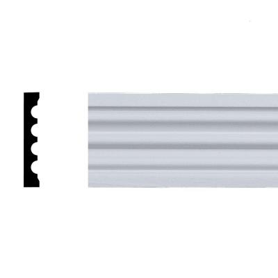 2-5/32 in. x 2-1/8 in. x 76 in. Primed Pine Fluted Door Casing Set (7-Piece set)