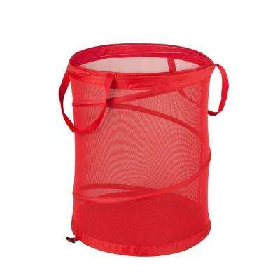 Medium Red Mesh Pop Open Hamper