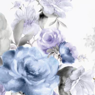 """84 in. x 84 in. """"Light Floral I"""" by Eva Watts Wall Art"""