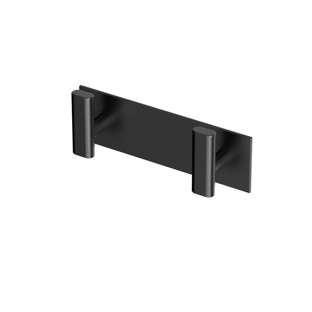 Elevate All Modern Decor Double Robe Hook in Matte Black