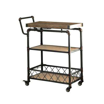 Clark Antique Black Serving Cart